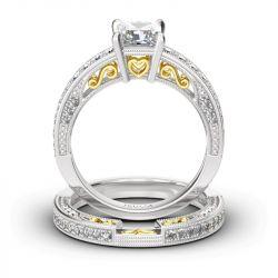 Vintage Princess Cut Sterling Silver Ring Set