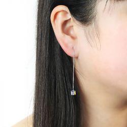 Tassel Cubic Crystal Earring Drops