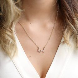 Constellation Necklace With Stones Sterling Silver