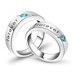 Engraved Sterling Silver Couple Rings