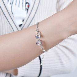 Cube Design Sterling Silver Bracelet