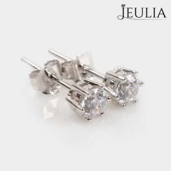 Simple Crown  Sterling Silver Stud Earrings