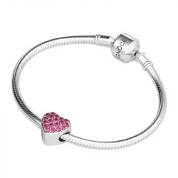 Single Heart Charm Sterling Silver