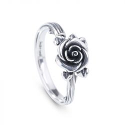 Heart Leaves Rose Branch Ring