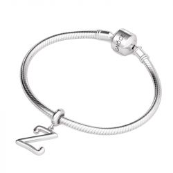 Letter Z Dangling Charm Sterling Silver