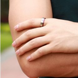 Pruple Color Titanium Steel Couple Rings