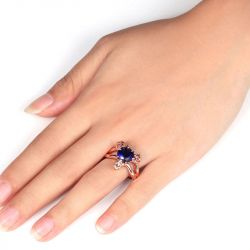 Jeulia Rose Gold Tone Dragon Ring