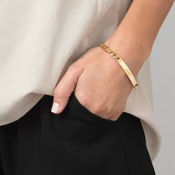 ID Bracelet Gold Tone Sterling Silver