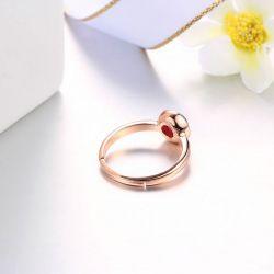 Vintage Rose Gold Tone Sterling Silver Adjustable Ring