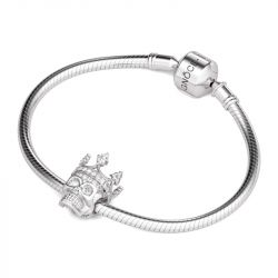 Rose Gold Tone Skull Queen Charm Sterling Silver