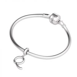 Letter Q Dangling Charm Sterling Silver