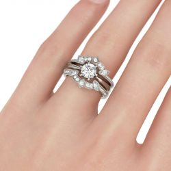 Vintage Sterling Silver Enhancer Ring Set