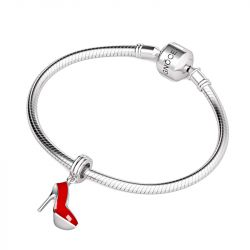 Red High Heel Pendant Sterling Silver