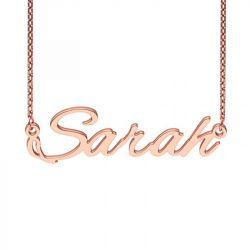 Rose Gold Tone Alexbrush Style Name Necklace