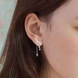 Wing Design Sterling Silver Earring Drops