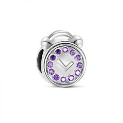 Clock Charm Sterling Silver