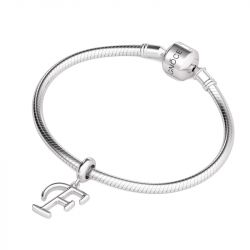 Letter F Dangling Charm Sterling Silver