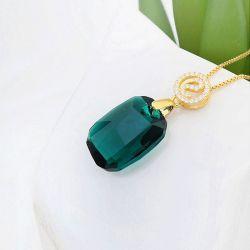 Gold Tone Large Stone Necklace