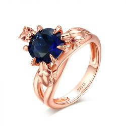 Jeulia Rose Gold Tone Dragon Ring