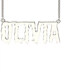 Silver Shlop Style Name Necklace