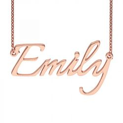 Rose Gold Tone Italianno Regular Style Name Necklace