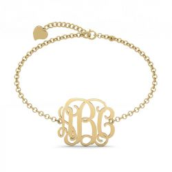 Personalized Monogram Bracelet Sterling Silver