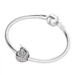 Snail Charm Sterling Silver