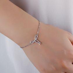 Bowknot Design Sterling Silver Bracelet