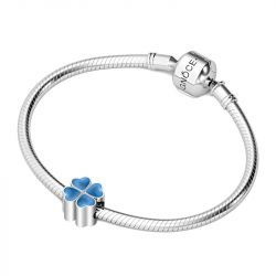 Heart to Heart Clover Charm Sterling Silver