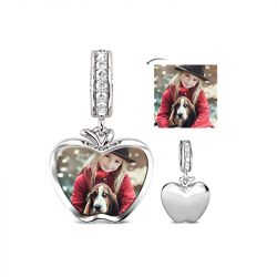 Apple Photo Charm Sterling Silver