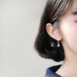 Cubic Sterling Silver Earring Drops