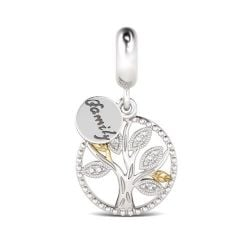 Family Tree Charm Sterling Silver