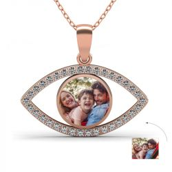 Eye of the Devil Photo Necklace Sterling Silver