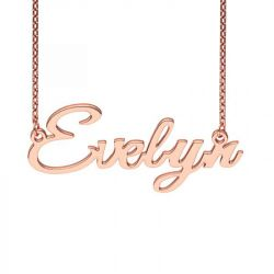 Rose Gold Tone GreatVibes-Regular Style Name Necklace