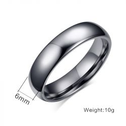 Simple Polished Couple Rings Tungsten Steel