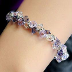 Romantic Purple Crystal Bracelet