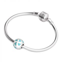 Blue Hearts Charm Sterling Silver