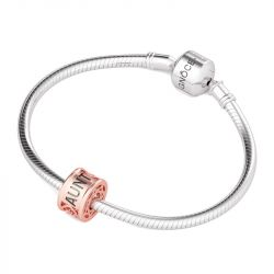Rose Gold Tone Hollow Charm Sterling Silver