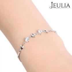 Four Leaf Clover Sterling Silver Bracelet
