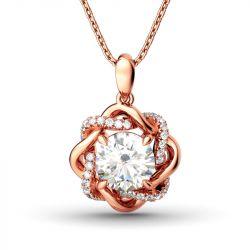 Jeulia Knot of Love Necklace