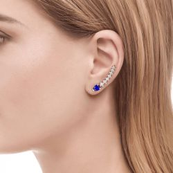 Royal Blue Climber Earrings