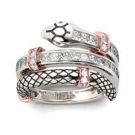 Knot Snake Sterling Silver Women's Band