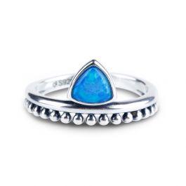 Jeulia Petite Triangle Opal Ring