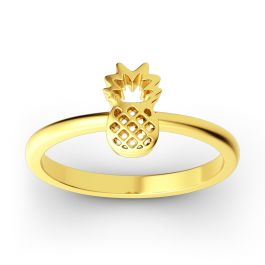 Stackable Pineapple Sterling Silver Ring
