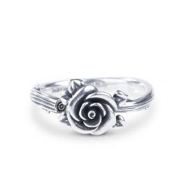 Heart Leaves Rose Branch Ring