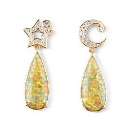 Dream Moon and Star Drop Earrings