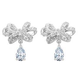 Jeulia Bowknot Pear Cut Drop Earrings