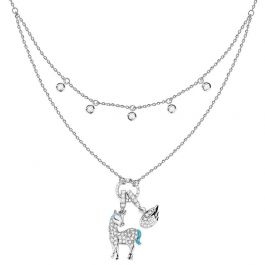 Layered Unicorn Sterling Silver Necklace