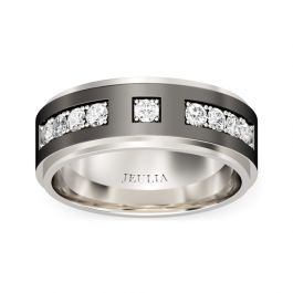 Round Cut Stainless Steel Men's Band