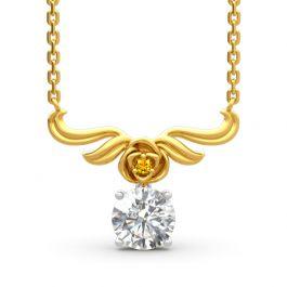 Vintage Flower Round Cut Sterling Silver Necklace